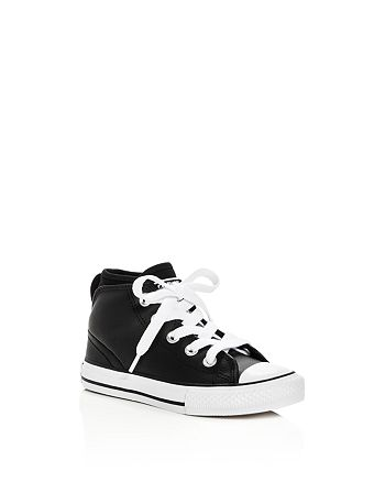 Converse - Boys' Chuck Taylor All Star Syde Street Leather Mid Top Sneakers - Toddler, Little Kid, Big Kid