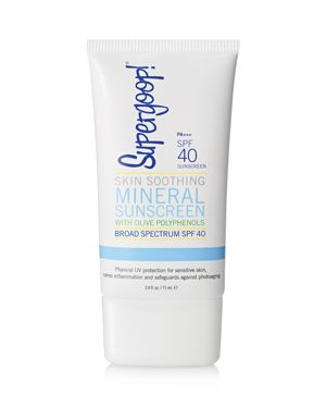 SUPERGOOP Skin Soothing Mineral Sunscreen With Olive Polyphenols Spf 40/2.4 Oz.