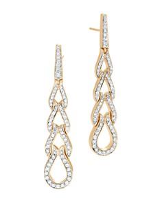 John Hardy 18K Yellow Gold Classic Chain Pavé Diamond Long Drop Earrings - Bloomingdale's_0