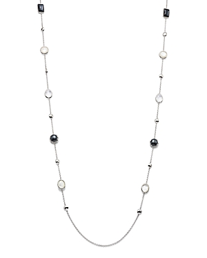 Ippolita Sterling Silver Rock Candy Mother-of-Pearl Doublet, Hematite Doublet & Clear Quartz Long St