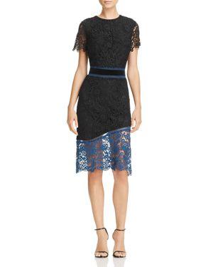 Laundry by Shelli Segal Color-Block Venise Lace Dress