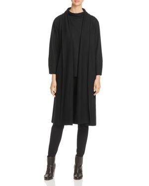 Eileen Fisher Petites Shawl Collar Wool Vest