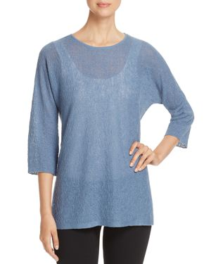 Eileen Fisher Textured Linen Top