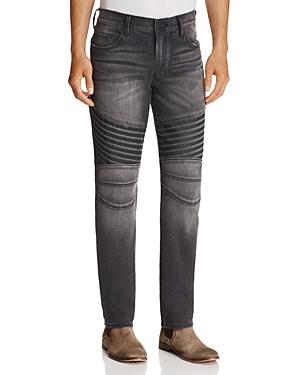 True Religion Geno Moto Dark Rebel Race Straight Fit Jeans in Washed Black