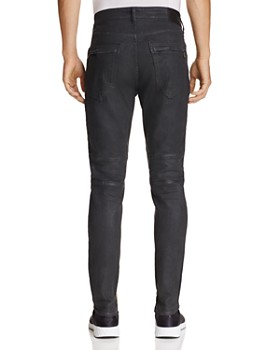 True Religion - Racer Black Crater Slim Fit Jeans in Black