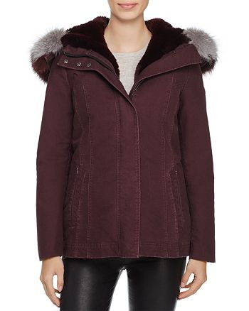 Dawn Levy - Maci Fox Fur Trim Parka