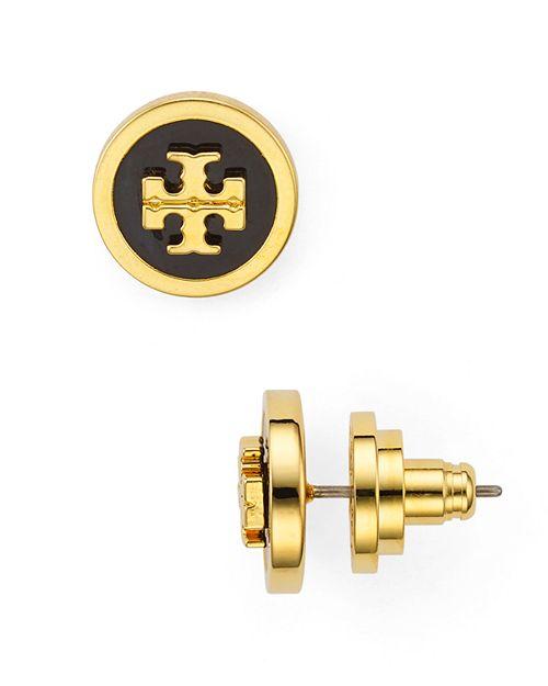 Tory Burch - Raised Logo Stud Earrings