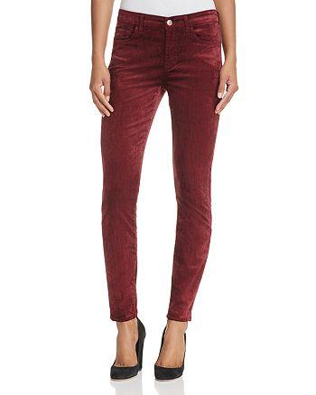 7 For All Mankind - Skinny Ankle Velvet Jeans in Scarlett