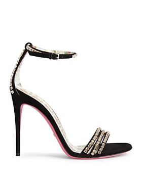 Gucci - Women's Ilse Embellished Ankle Strap Sandals