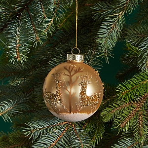Bloomingdale's Glass Gold Embellished Ball Ornament - 100% Exclusive