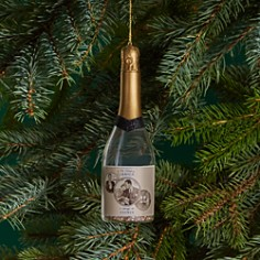 Bloomingdale's Glass Champagne Bottle Ornament - 100% Exclusive _0