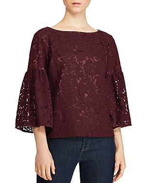 Lauren Ralph Lauren Lace Bell-Sleeve Top