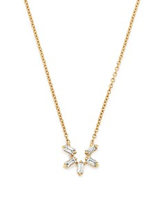 "Dana Rebecca Designs - 14K Yellow Gold Sadie Pearl Diamond U Pendant Necklace, 16"""