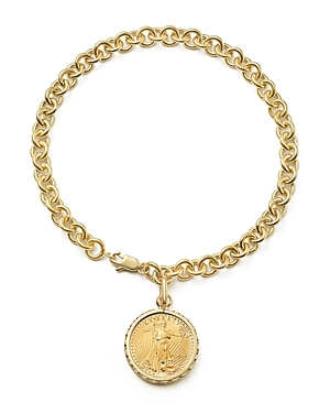 Coin Charm Bracelet in 14K Yellow Gold - 100% Exclusive