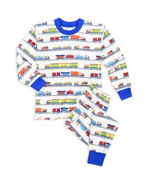 Sara's Prints Boys' Freight Train Pajama Shirt & Pants Set - Little Kid 2649229