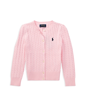 Ralph Lauren Childrenswear Girls' Cable-Knit Cardigan - Little Kid