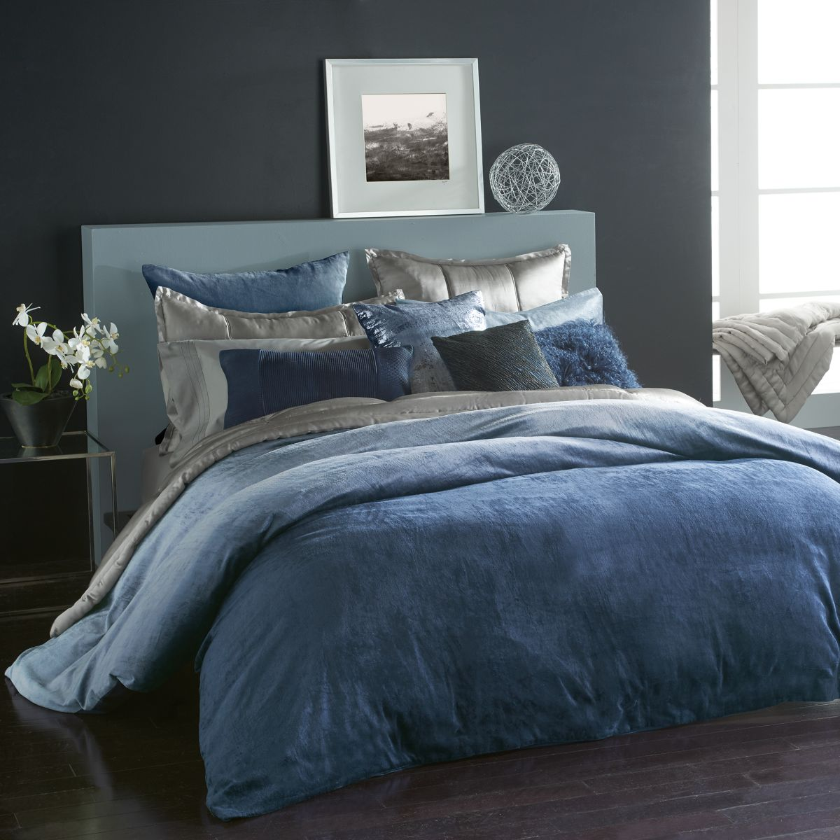 Ocean Duvet Cover, Full/Queen   100 Percents Exclusive by Donna Karan