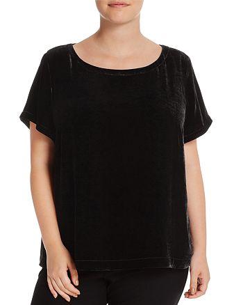 Eileen Fisher Plus - Short Sleeve Velvet Top