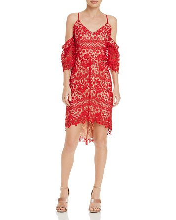 $Adelyn Rae Krista High/Low Lace Dress - Bloomingdale's