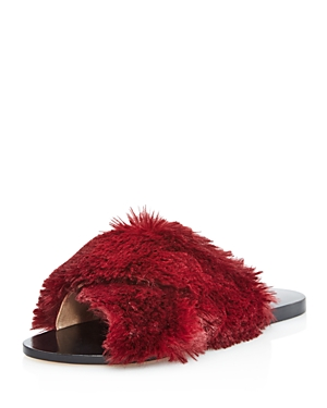 Raye Sid Faux Fur Pool Slide Sandals