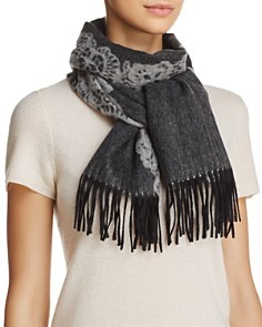 C by Bloomingdale's Lace Cashmere Scarf - 100% Exclusive_0