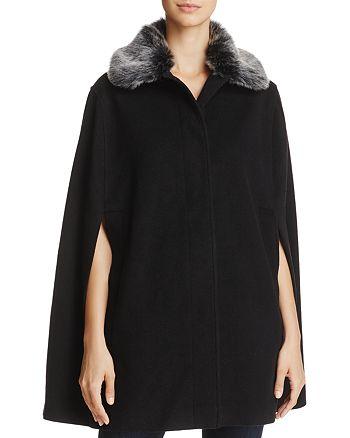 Helene Berman - Faux Fur-Collar Cape - 100% Exclusive