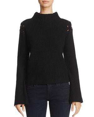 John + Jenn Margo Laced Shoulder Sweater - 100% Exclusive
