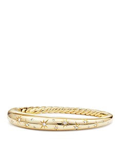 David Yurman Pure Form Smooth Bracelet with Diamonds in 18K Gold - Bloomingdale's_0