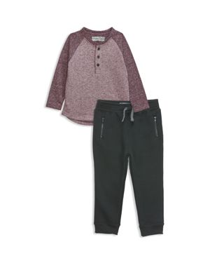 Sovereign Code Boys' Mixed Media Henley & Joggers Set - Baby