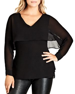 City Chic Cape Overlay Top