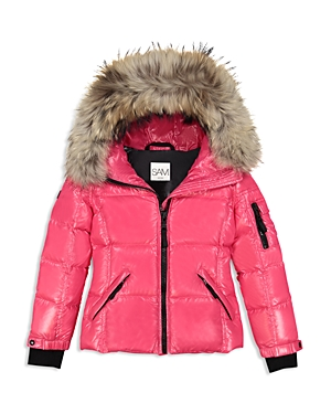 Sam. Girls' Fur-Trimmed Down Jacket - Little Kid