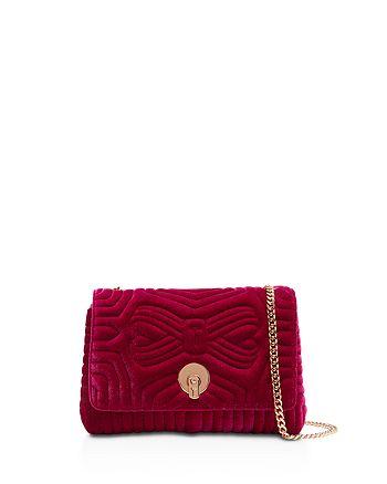 9190622e06c9 Handbags.   Ted Baker - Rachila Quilted Velvet Crossbody