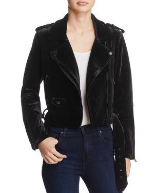 Velvet Moto Jacket in Dark Side