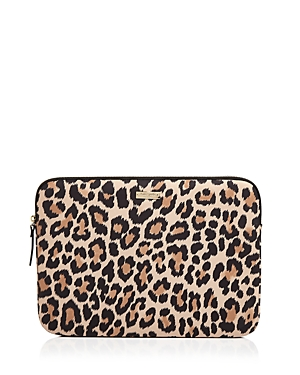 kate spade new york Leopard Print 13 Nylon Laptop Case
