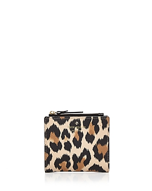kate spade new york Hyde Lane Adalyn Leopard Print Leather Wallet