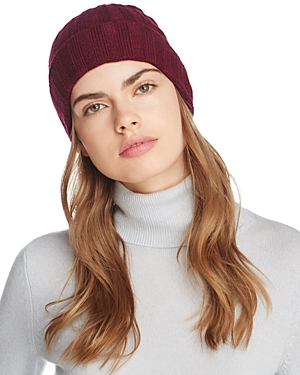 C By Bloomingdale's C BY BLOOMINGDALE'S RIBBED CASHMERE CUFF HAT - 100% EXCLUSIVE