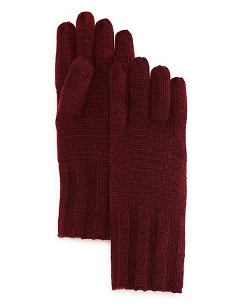 C by Bloomingdale's - Ribbed Cashmere Gloves - 100% Exclusive