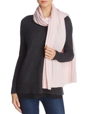 C by Bloomingdale's Ribbed Cashmere Scarf - 100% Exclusive