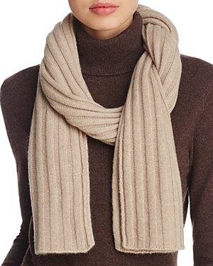 C By Bloomingdale's C BY BLOOMINGDALE'S RIBBED CASHMERE SCARF - 100% EXCLUSIVE
