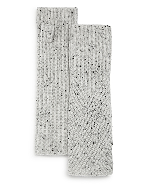 C By Bloomingdale's AQUA CASHMERE DONEGAL CASHMERE FINGERLESS GLOVES - 100% EXCLUSIVE