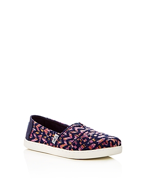 Toms Girls' Classic Tribal Slip-On Sneakers - Toddler, Little Kid, Big Kid
