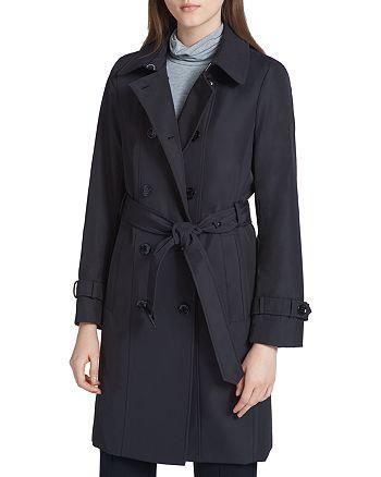 Calvin Klein - Tie-Waist Trench Coat