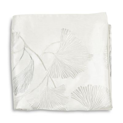 $Michael Aram Ginkgo Leaf Embroidered Throw - Bloomingdale's