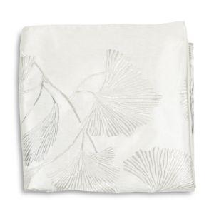 Michael Aram Ginkgo Leaf Embroidered Throw