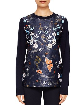 Ted Baker - Khlo Kyoto Gardens Jacquard Sweater