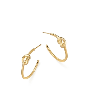14K Yellow Gold Knotted Hoop Earrings - 100% Exclusive