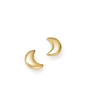 14K Yellow Gold Crescent Moon Stud Earrings - 100% Exclusive