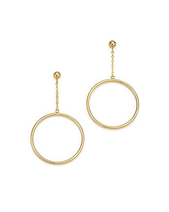 Bloomingdale's - 14K Yellow Gold Small Circle Chain Drop Earrings - 100% Exclusive