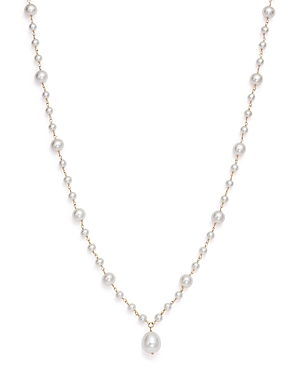 Cultured Freshwater Pearl Pendant Necklace in 14K Yellow Gold, 19 - 100% Exclusive