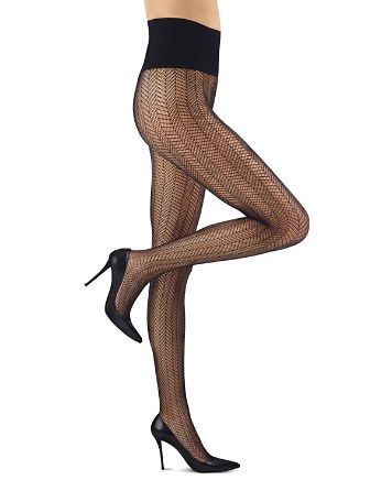 $Commando Herringbone Net Tights - Bloomingdale's